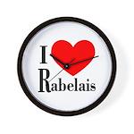 I Love Rabelais Wall Clock