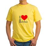 I Love Rabelais Yellow T-Shirt
