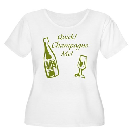 Champagne Me Women's Plus Size Scoop Neck T-Shirt