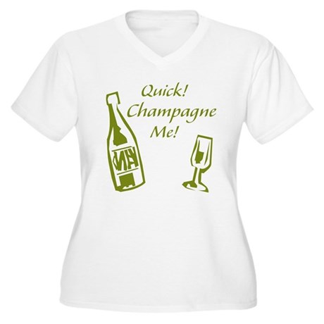 Champagne Me Women's Plus Size V-Neck T-Shirt