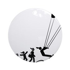 Kiteboarding-AAI1 Round Ornament