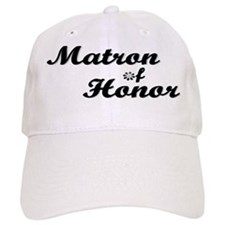 Matron of Honor (black) Baseball Cap