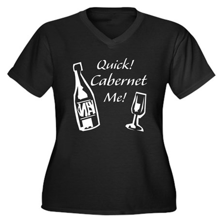 Cabernet Me Women's Plus Size V-Neck Dark T-Shirt