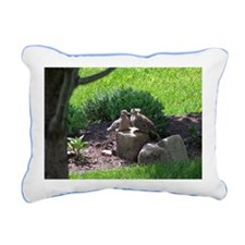A Pair of Love Doves Rectangular Canvas Pillow