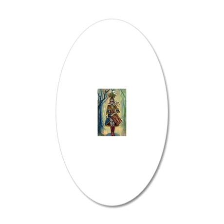 Victorian Drummer Girl i3 ph 20x12 Oval Wall Decal