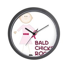 Bald Chicks Rock Wall Clock