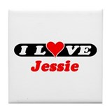 I Love Jessie Tile Coaster