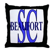Beaufort South Carolina Throw Pillow