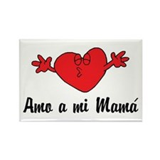 Amo a mi Mama Rectangle Magnet (100 pack)