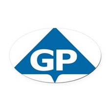 GP Oval Car Magnet