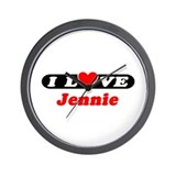 I Love Jennie Wall Clock