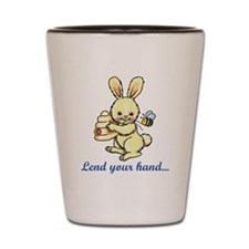 Lend you Hand Shot Glass