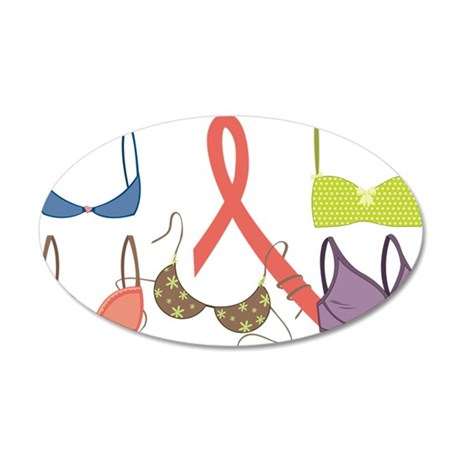 Cancer Cure 35x21 Oval Wall Decal
