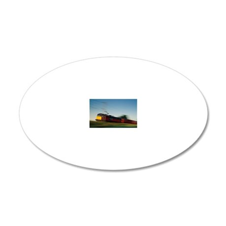 Electric train 20x12 Oval Wall Decal