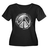 Urban Peace Sign Sketch Women's Plus Size Scoop Ne