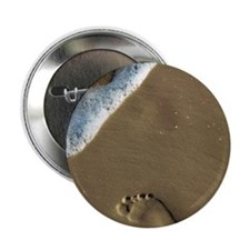 "Surfer Footprints 2.25"" Button"