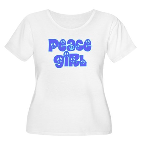 Peace Girl Women's Plus Size Scoop Neck T-Shirt