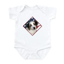 Aussie Flag 2 Infant Bodysuit