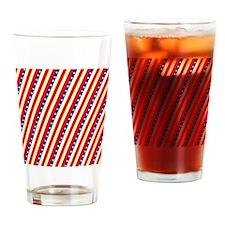 Stars  Stripes Wave July 4th BBQ Drinking Glass