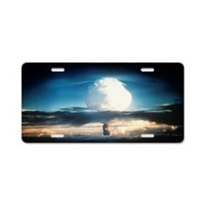 First hydrogen bomb explosi Aluminum License Plate