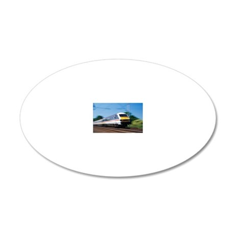 Express train 20x12 Oval Wall Decal