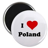 I Love Poland Magnet