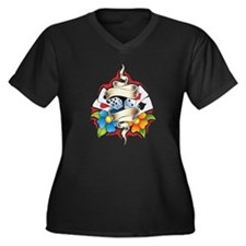 Gambling Tattoo Plus Size T-Shirt