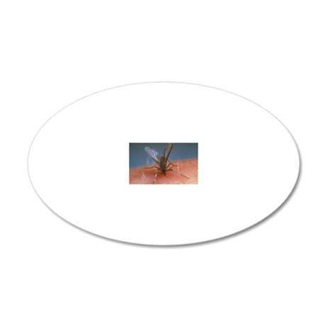 Feeding sandfly 20x12 Oval Wall Decal