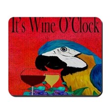 Wine OClock Parrot Mousepad