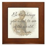Mahatma Gandhi Quote Framed Tile
