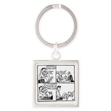 Welcome Home Daddy! Square Keychain