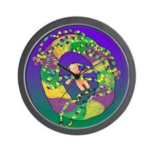 Mardi Gras king cake Wall Clock