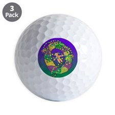 Mardi Gras king cake Golf Ball