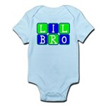 Lil Bro (Blue/Green Bright) Infant Bodysuit