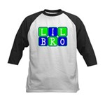 Lil Bro (Blue/Green Bright) Kids Baseball Jersey