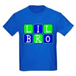 Lil Bro (Blue/Green Bright) Kids Dark T-Shirt
