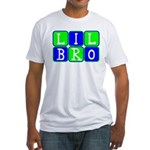 Lil Bro (Blue/Green Bright) Fitted T-Shirt