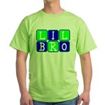 Lil Bro (Blue/Green Bright) Green T-Shirt