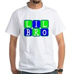 Lil Bro (Blue/Green Bright) White T-Shirt