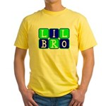 Lil Bro (Blue/Green Bright) Yellow T-Shirt