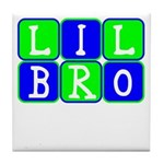Lil Bro (Blue/Green Bright) Tile Coaster