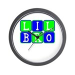 Lil Bro (Blue/Green Bright) Wall Clock