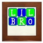 Lil Bro (Blue/Green Bright) Framed Tile