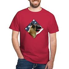 Malinois Flag 2 T-Shirt