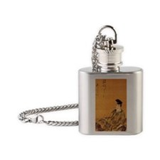 The Poet by Katsushika Hokusai Flask Necklace