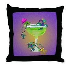 Mardi Gras margarita Throw Pillow
