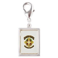 8th Field Hospital Silver Portrait Charm