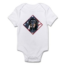 Black & Tan Flag 2 Infant Bodysuit