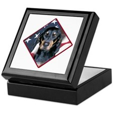 Black & Tan Flag 2 Keepsake Box