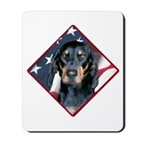 Black &amp; Tan Flag 2 Mousepad